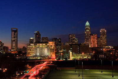 Charlotte Skyline at Night 2010