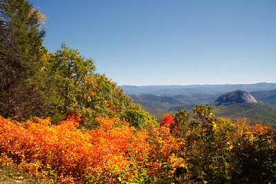 Blue Ridge Mountains in AutumnLooking Glass RockLog Hollow Overlook