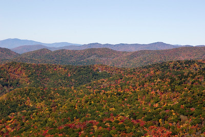 Blue Ridge Mountains in the Autumn Season