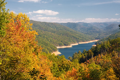 Fontana Lake in Autumn
