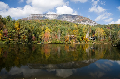 Whiteside Mountain in Autumn with Reflections