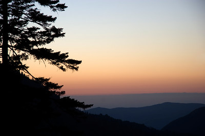 Blue Ridge Mountains at Sunset