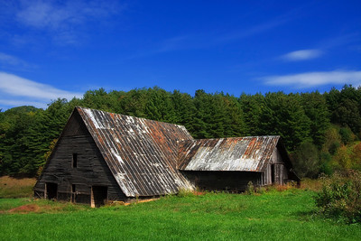 Old Barn on Moody Farm in the North Carolina mountains
