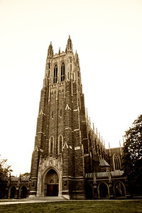 Duke Chapel in Sepia Tone