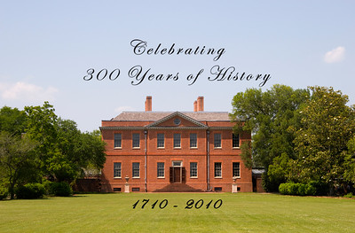 Celebrating 300 Years of History1710 - 2010Tryon Palace House - Back Lawn toward the Water