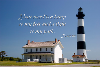 Lighthouse Scripture Word is Lamp to my Feet