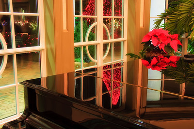 Beautiful piano with Christmas reflectionsDaniel Stowe Gardens in Belmont