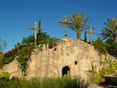 Empty Tomb with Crosses